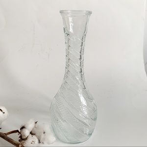 Vintage Glass Classic Flowers Vase Made in Canada